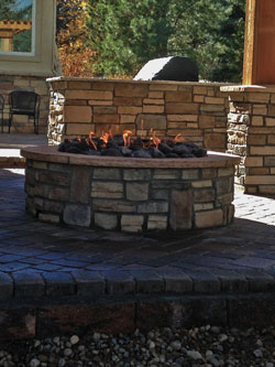 Backyards Plus designs and installs gas line fire pits in the Denver area