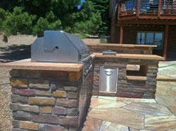 Custom outdoor kitchens by Backyards Plus.