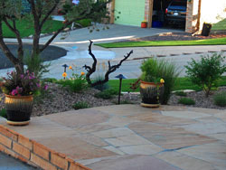Backyards Plus' superior craftmanship shows in their flagstone installations.