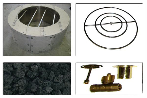 Items included with the Backyards Plus Colorado Fire Pit kit